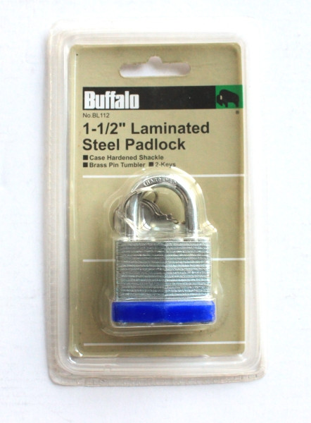"1-1/2"" (40MM) LAMINATED STEEL PADLOCK"