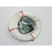 1000 LB ROPE HOIST WITH 65' POLYPROPYLENE ROPE