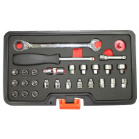 27PCS GO-THROUGH AND LOW PROFILE SOCKET SET