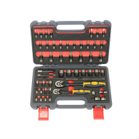 51PC 72T RATCHET WRENCH AND BIT SOCKET SET