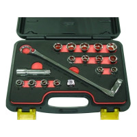 18PC-75° OFFSET FLEXIBLE GEAR WRENCH SET