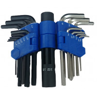15PCS TWIN TYPE HEX KEY WRENCH SET