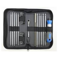 27 PCS DOUBLE ENDED BLADES & BITS SET WITH ALUMINUM RING HANDLE