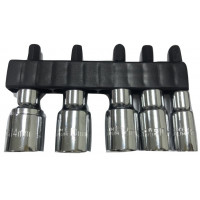 "5PCS 1/4"" POWER SOCKET SET-28MML"