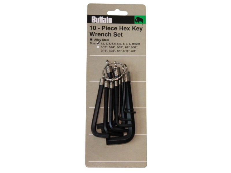 10 PIECE ALLEN HEX KEY